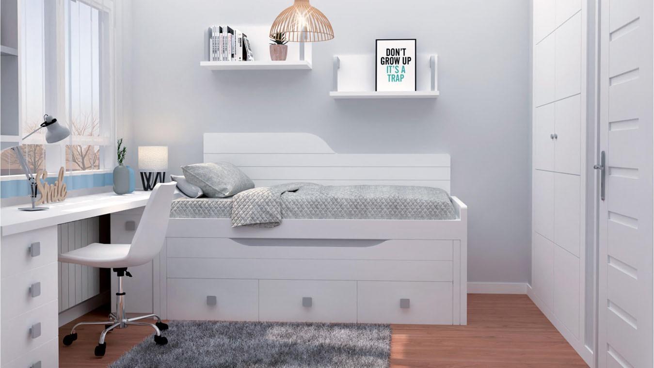 Dormitorio Juvenil COMPARTO - Ref: 0021